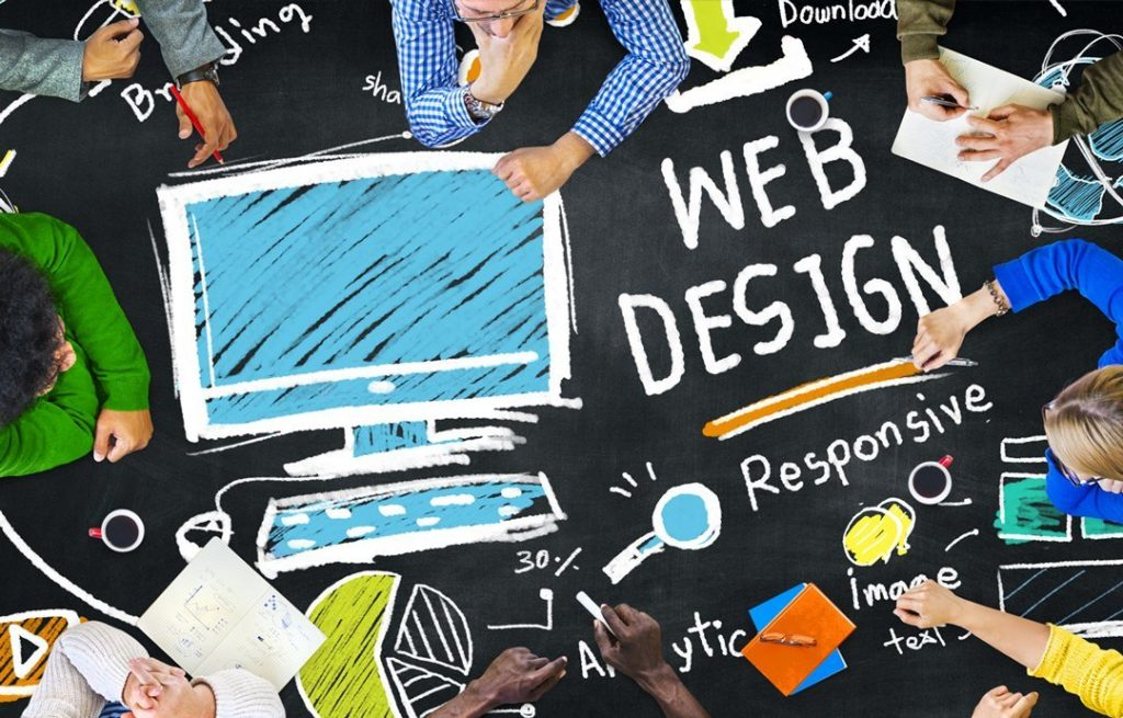 Web Design Trends on a table
