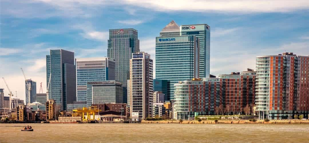 HSBC and Canary Wharf view