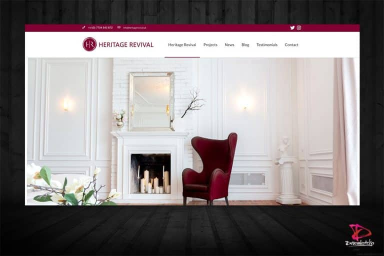 Web design by Dreamkatcha for Reading based company