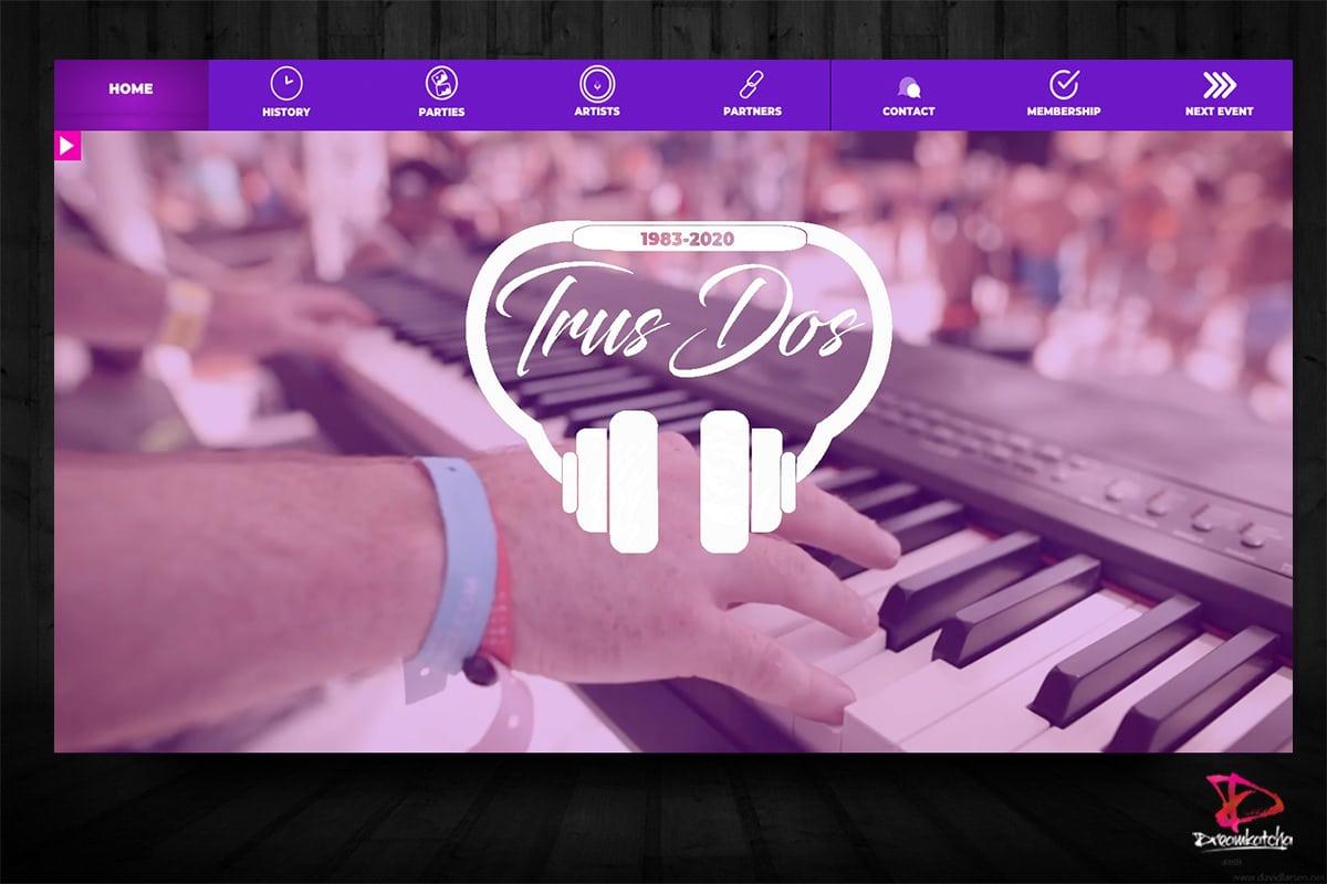 Website design of Trus Dos Events London