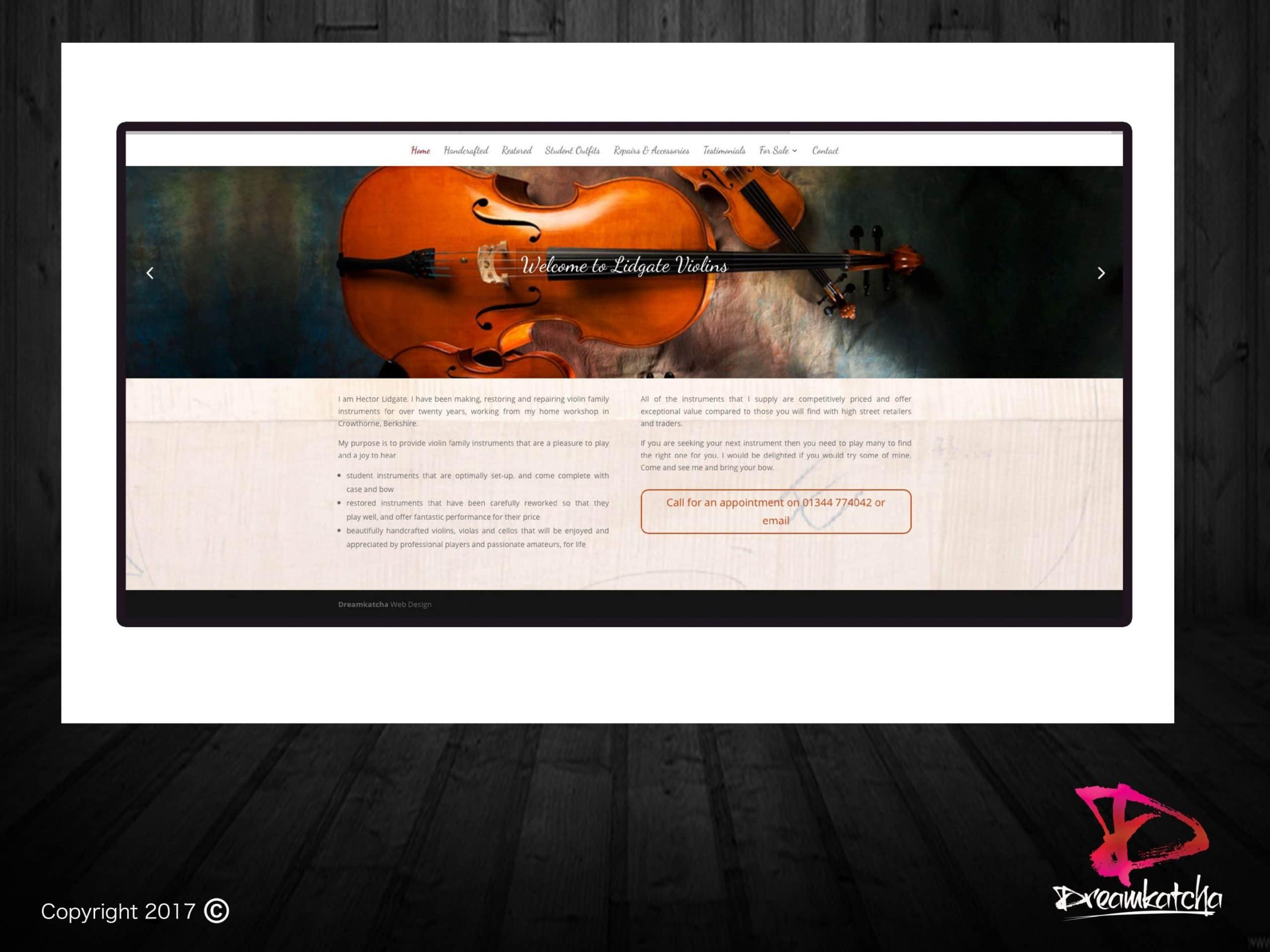 website Design for Art Company london