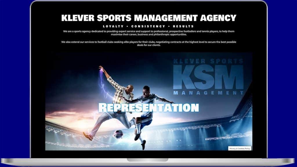 sports managent company website design