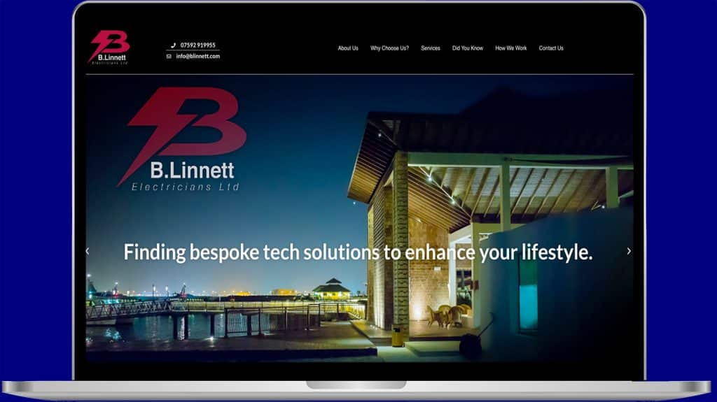 Electrician company website design by Dreamkatcha
