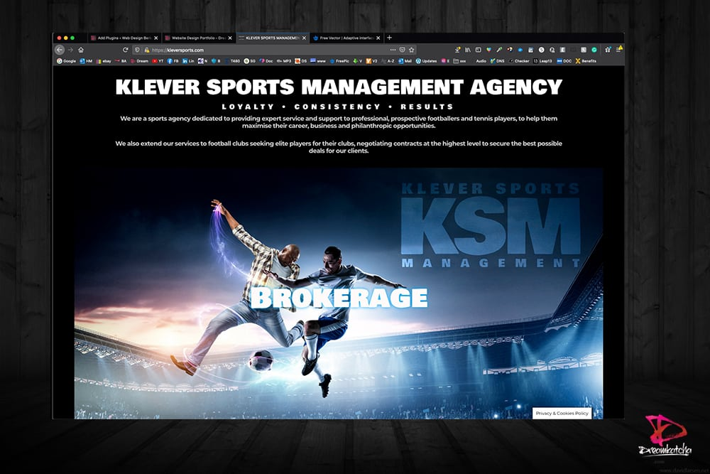 website Design of KSM London