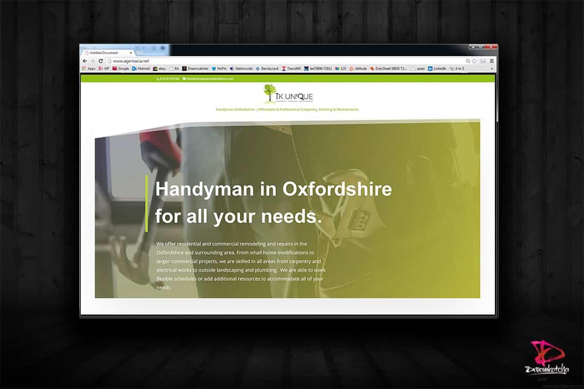 website Design for Hand Man Ocford London