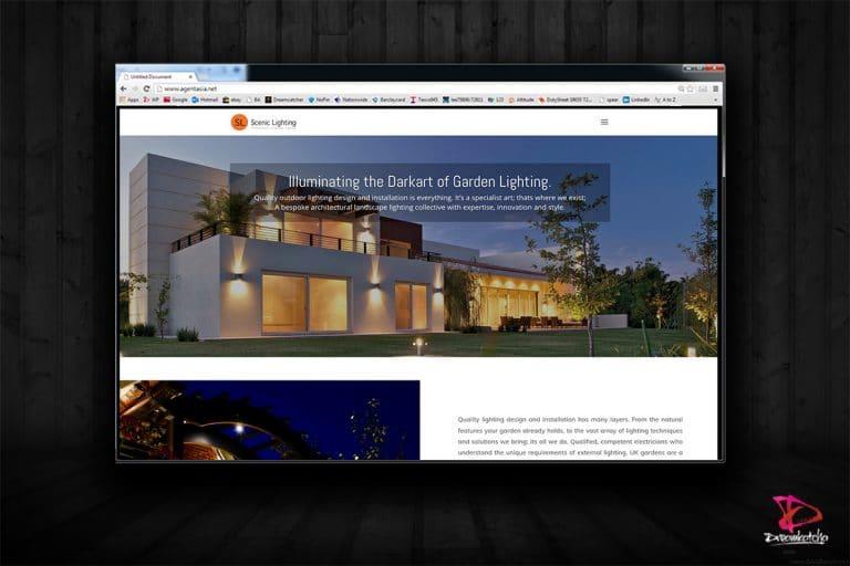 website Design for Lighting Company London
