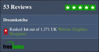 Best web designer in Uk Freeindex award