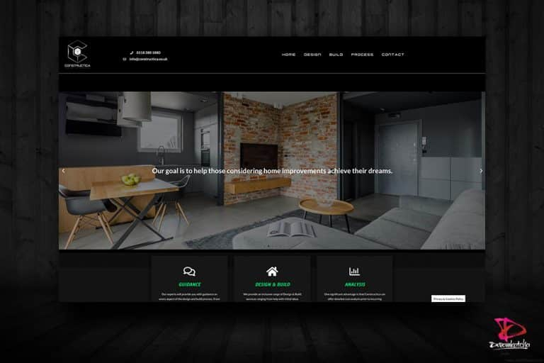 Webdsite design for a company in Surrey