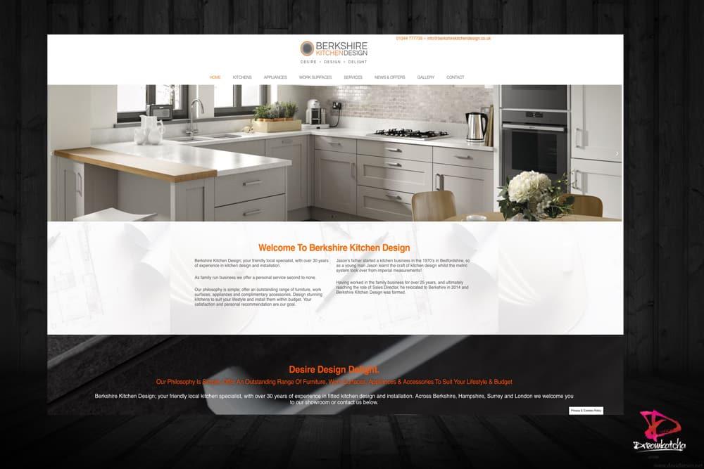 website for Kitchen Design Company in Crowthorne Berkshire