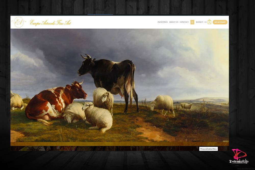 Fine art website design in Berkshire