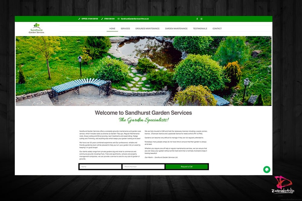 Website3 design for a company in Crowthorne Berkshire