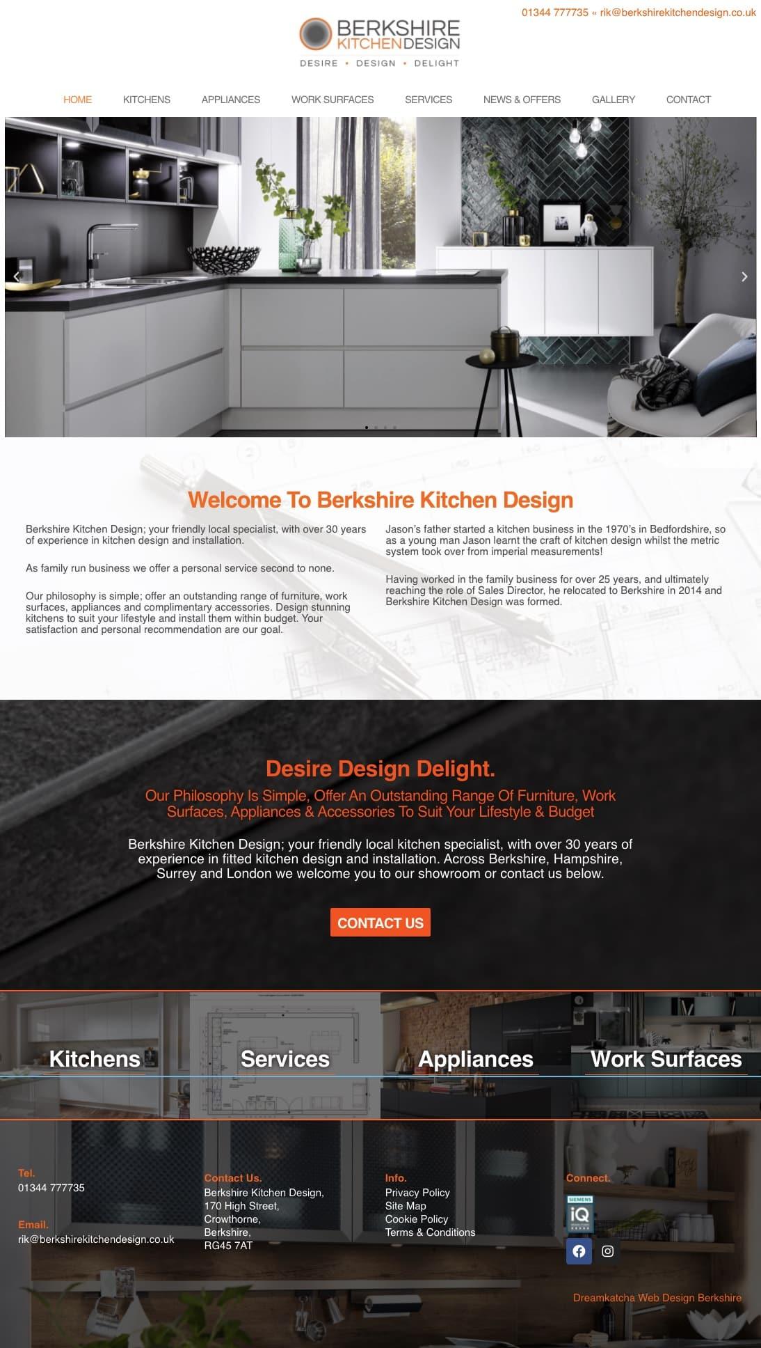 Web designer in Crowthorne