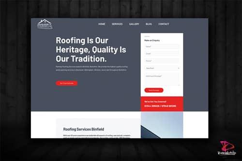 Website design Ramsey Roofing